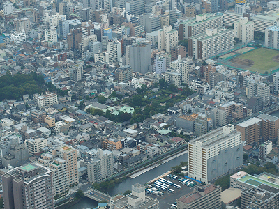東京スカイツリー天望回廊からの眺め