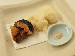 明太子の天ぷらと白子の天ぷら
