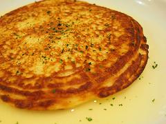 海老とじゃが芋のパンケーキ