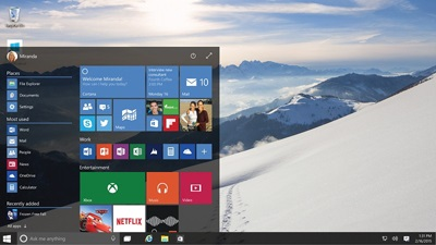 Windows10プレビューの画面
