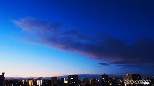 日没後の青空