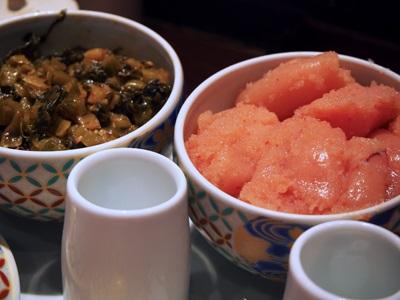 博多もつ鍋やまやの辛子明太子とからし高菜