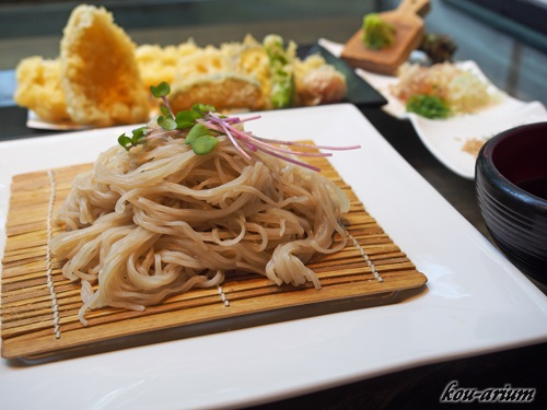 穴子と鱚の天ぷら蕎麦