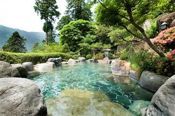 下呂温泉 湯之島館の展望露天風呂