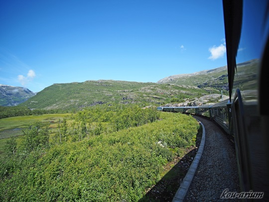 フロム山岳鉄道の車窓から
